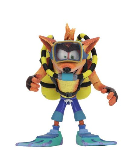 NECA Crash Bandicoot Deluxe Action Figure Scuba Crash 14 cm